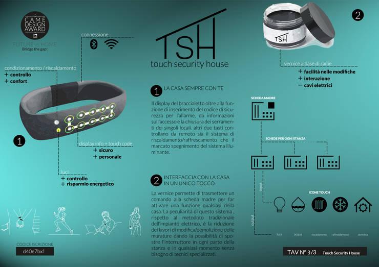 Came Design Award – Touch Security House, una casa a portata di mano:  in stile  di Ariedi&Moretto,