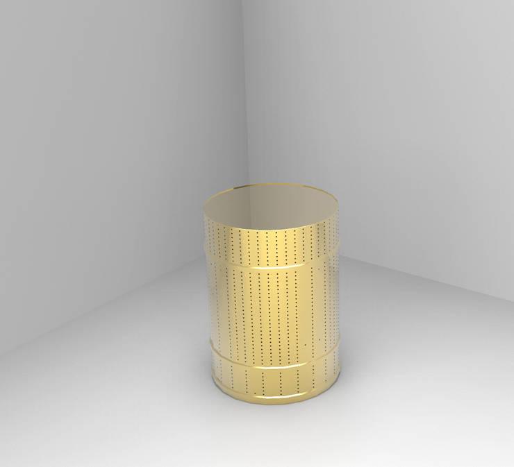 La deuxième vie d'un bidon : Le luminaire: Jardin de style  par Romain CHEVE