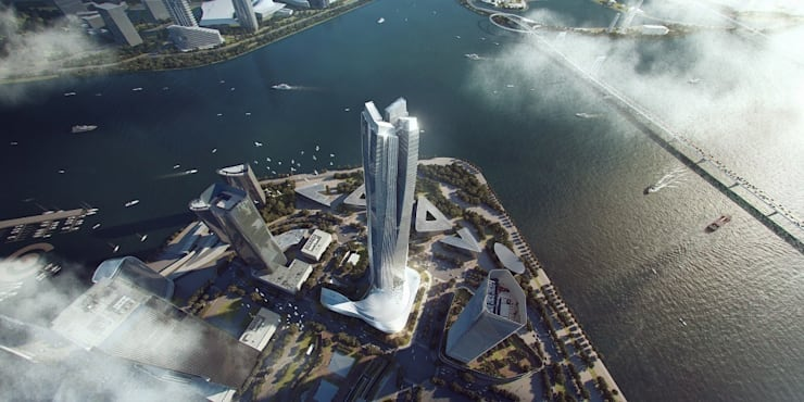 """Hengqin International Financial Center : {:asian=>""""asian"""", :classic=>""""classic"""", :colonial=>""""colonial"""", :country=>""""country"""", :eclectic=>""""eclectic"""", :industrial=>""""industrial"""", :mediterranean=>""""mediterranean"""", :minimalist=>""""minimalist"""", :modern=>""""modern"""", :rustic=>""""rustic"""", :scandinavian=>""""scandinavian"""", :tropical=>""""tropical""""}  by Architecture by Aedas,"""