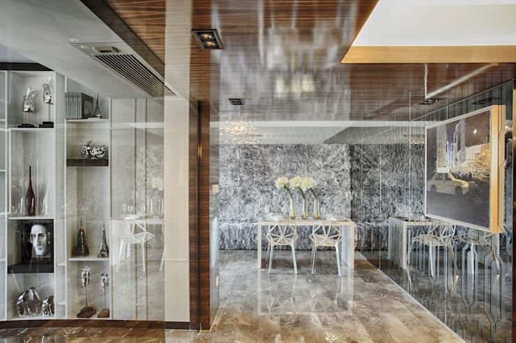 Literati Mansion | Guangzhou, China (ShowFlat):  Dining room by Another Design International