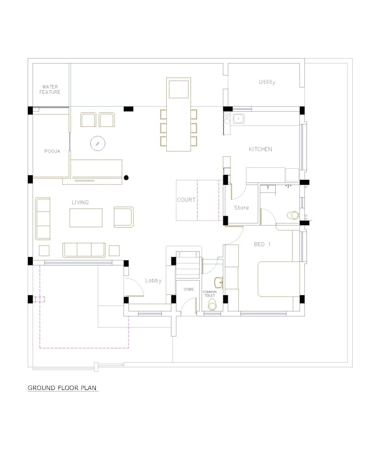 sheetal chayya residence: modern Houses by manoj bhandari architects