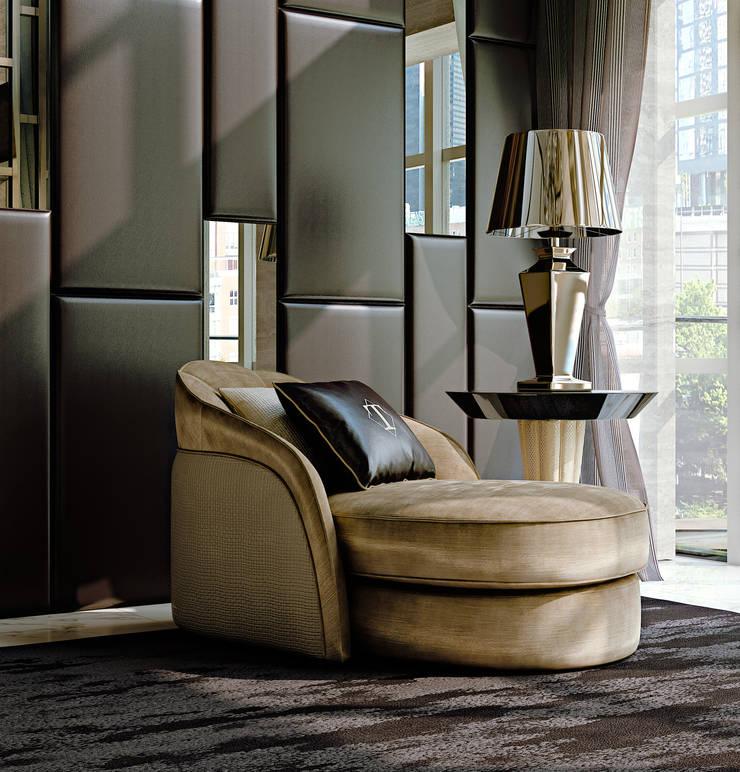 STARDUST Chaise longue: Soggiorno in stile  di Turri srl,
