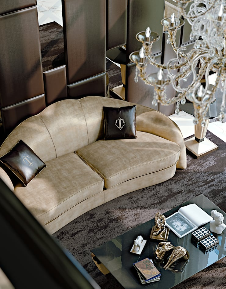 STARDUST divano: Soggiorno in stile  di Turri srl,
