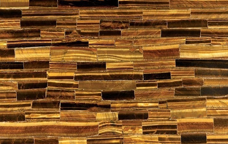 Golden Tiger's Eye:  Dining room by Stonesmiths - Redefining Stone-Age