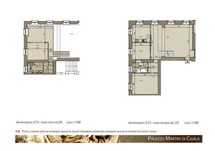 App.13, Palazzo Martini di Cigala: Soggiorno in stile  di Studio Deal - Architettura d'Interni -