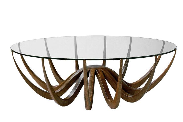 Table basse <q>Polpus</q>: Art de style  par Lehuerou-Kerisel ébenisterie