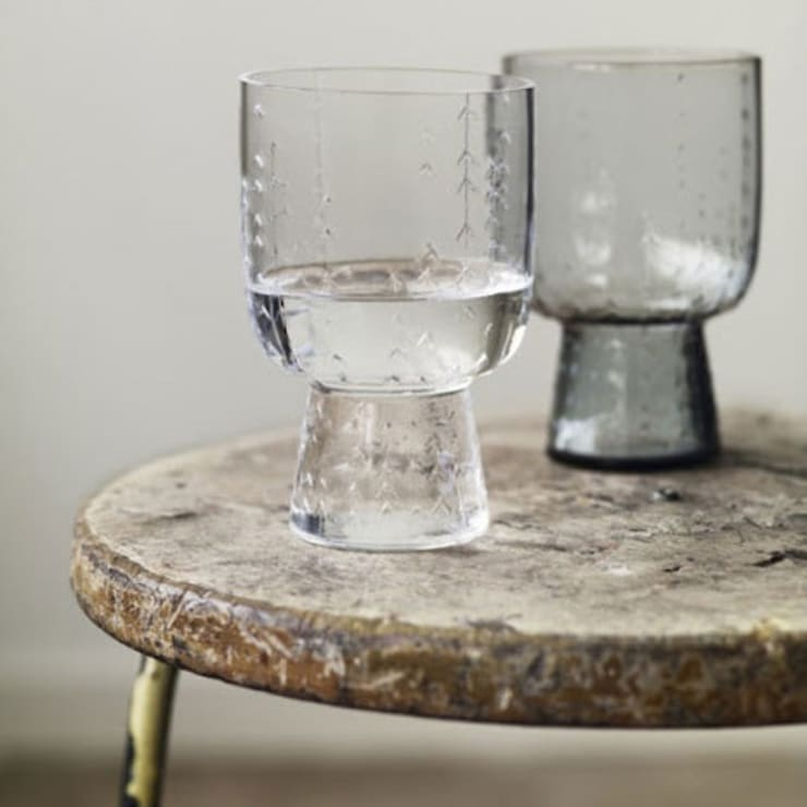 Clear Sarjaton glass (pair):  Household by Fate London