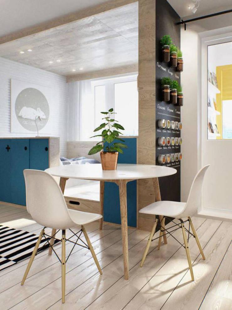 Стильная однушка 40м2 в Москве: Столовые комнаты в . Автор – IdeasMarket