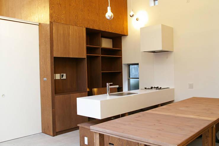 DOMA~春日部市N邸: 株式会社梁建築設計が手掛けたキッチンです。