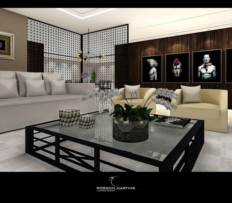Living room by Robson Martins Interior Design, Modern