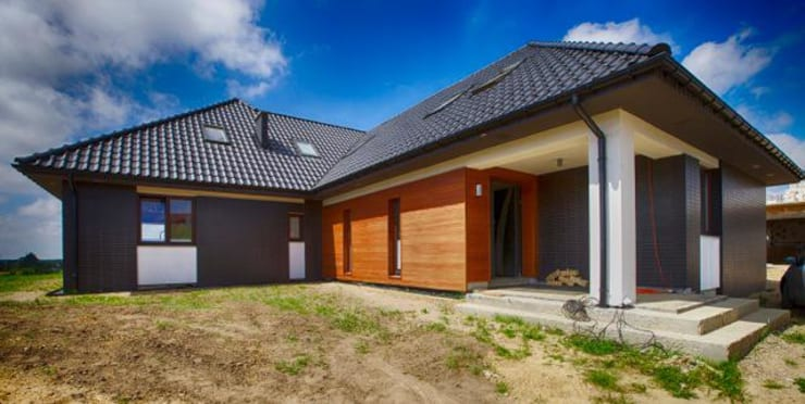 Maisons de style de style Moderne par Studio Projektowe Projektive