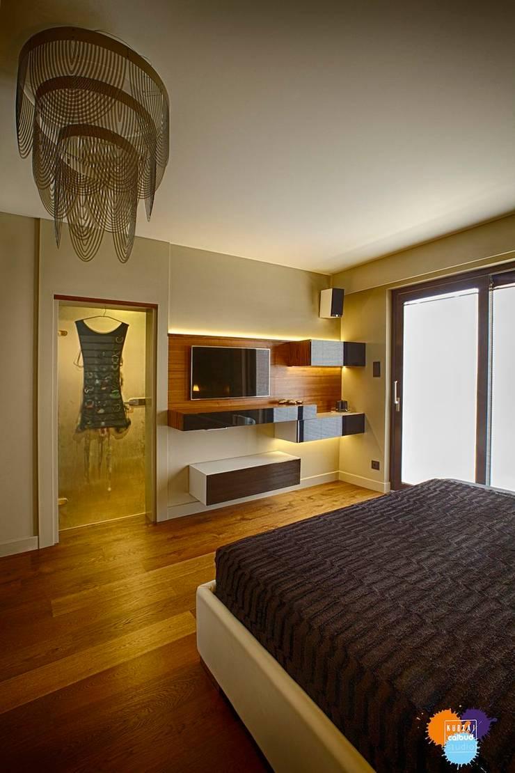 DOM W KOSZALINIE : styl , w kategorii Sypialnia zaprojektowany przez Studio Projektowe Projektive