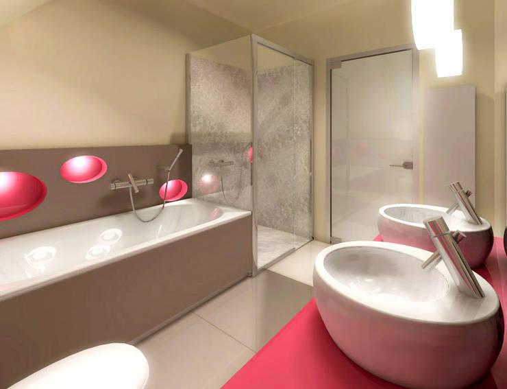 Banheiros  por Studio Projektowe Projektive