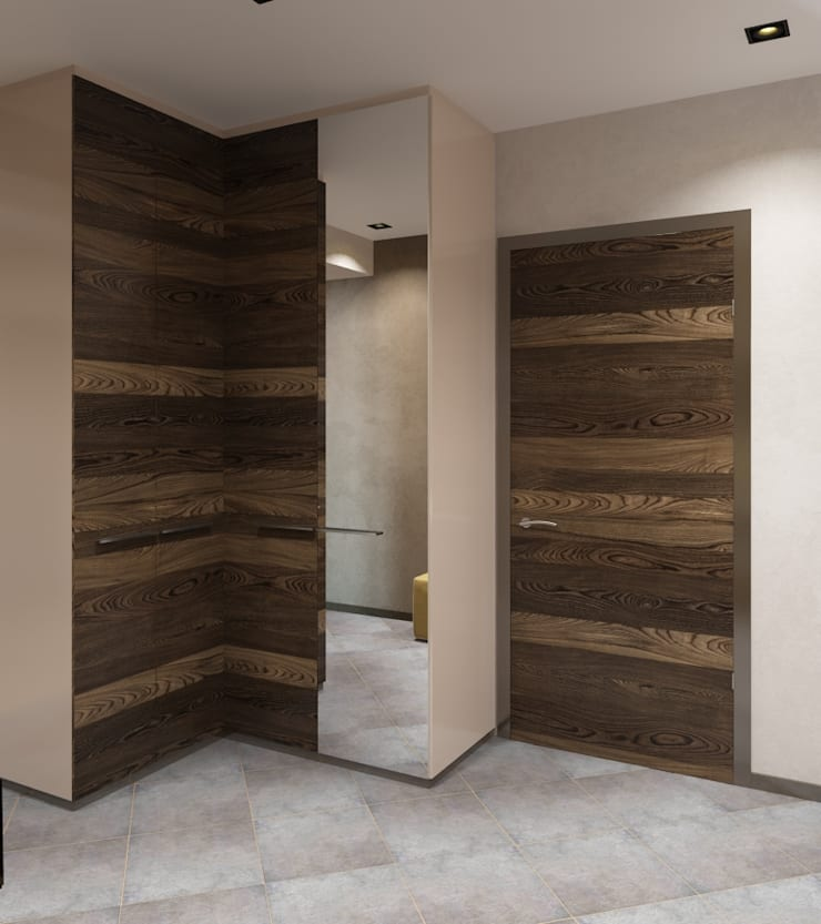 Modern Corridor, Hallway and Staircase by Студия дизайна 'New Art' Modern
