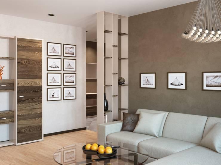 Современная квартира: Гостиная в . Автор – Студия дизайна 'New Art', Модерн