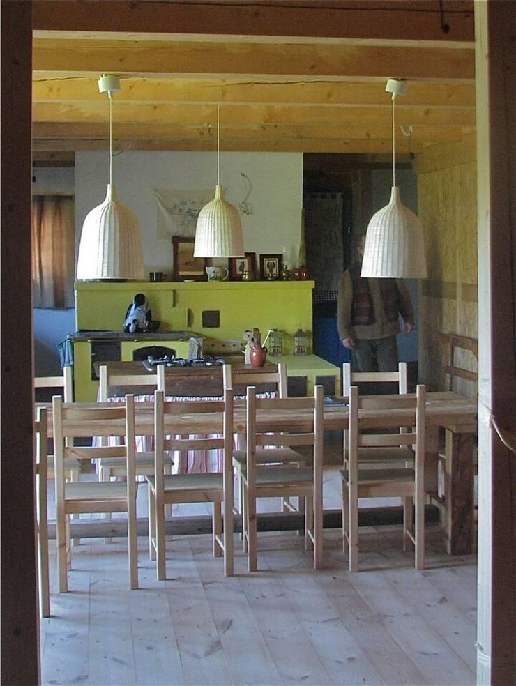 Dom Wólka: styl , w kategorii Jadalnia zaprojektowany przez Pracownia Tutaj