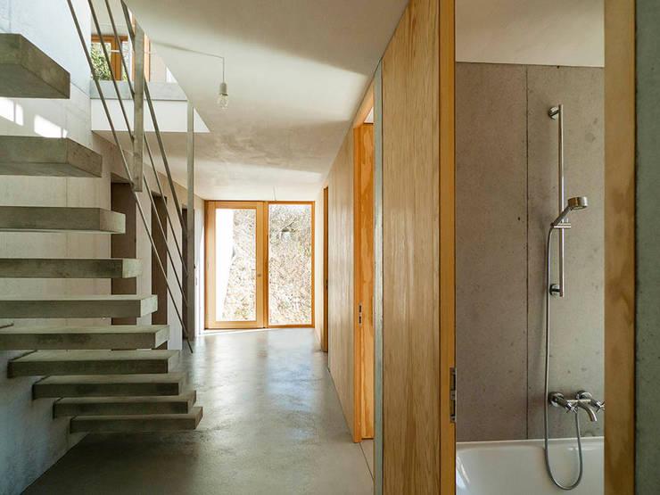Wohnhaus am Hang, Wyhlen:  Flur & Diele von GIAN SALIS ARCHITEKT
