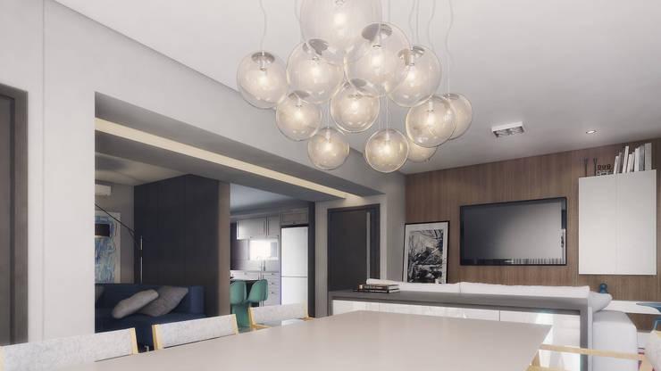 COBERTURA MA: Salas de jantar  por AF Arquitetura