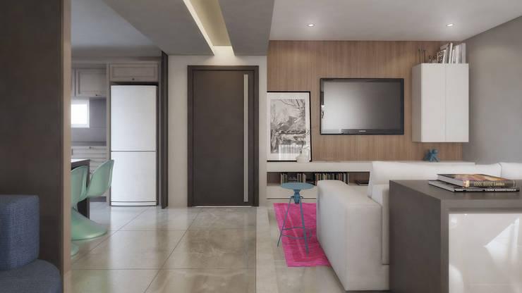 COBERTURA MA: Salas de estar modernas por AF Arquitetura