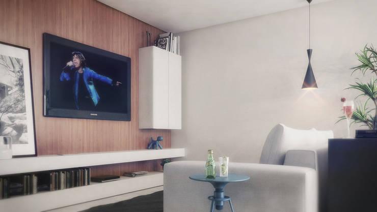 COBERTURA MA: Salas de estar  por AF Arquitetura