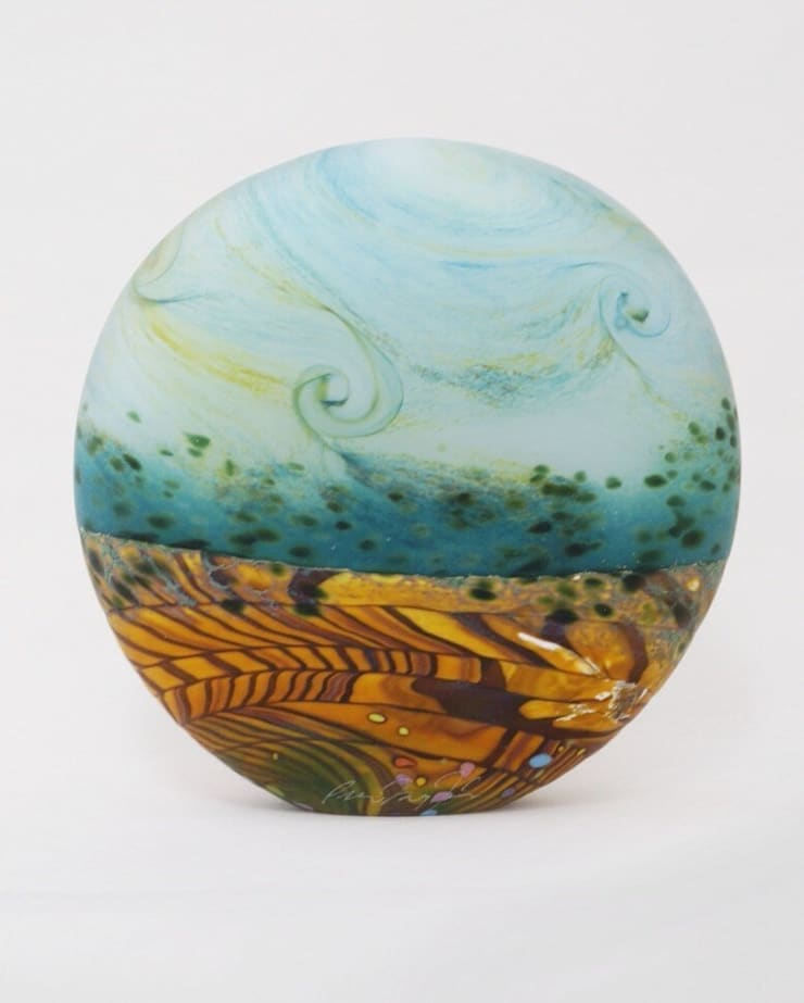 Wheatfield Small Stoneform by Peter Layton at Riverside Art and Glass.:  Artwork by Riverside Art and Glass, Contemporary Gallery