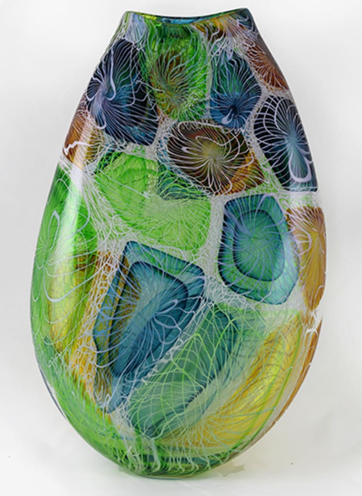 Complexity Vase by Bob Crooks at Riverside Art and Glass.:  Artwork by Riverside Art and Glass, Contemporary Gallery