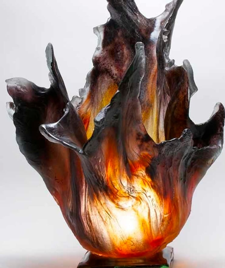 On Fire Sculpture by Amanda Brisbane at Riverside Art and Glass.:  Artwork by Riverside Art and Glass, Contemporary Gallery