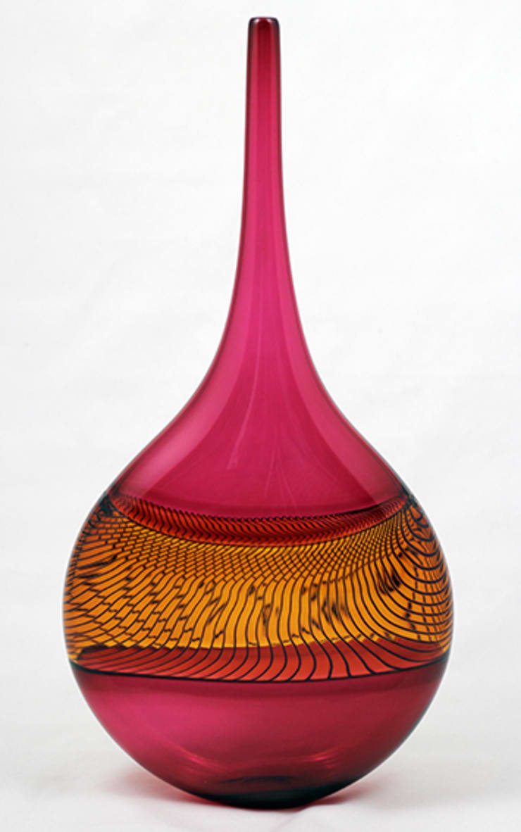 Tall Longitudinal Vase by Bob Crooks at Riverside Art and Glass:  Artwork by Riverside Art and Glass, Contemporary Gallery