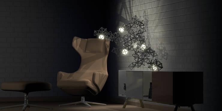 light modeling: Salon de style  par Romain Giraud