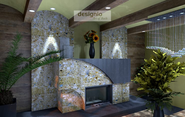 Spontan wohlfühlen mit Holz:  Wohnzimmer von Art of Bath,Landhaus