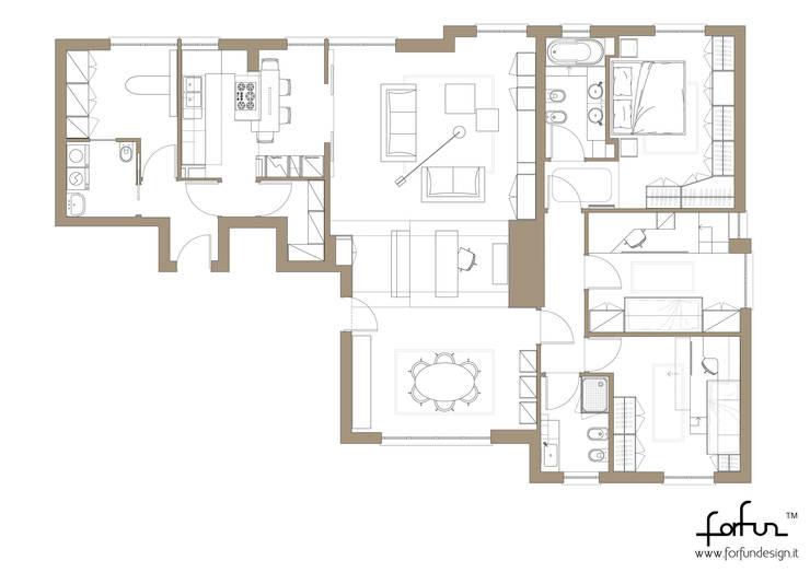 Pentalocale a Monza: Case in stile  di Architetto ANTONIO ZARDONI