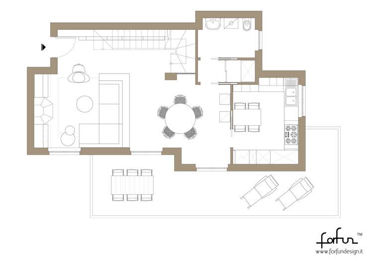 Villa Bifamigliare: Case in stile  di Architetto ANTONIO ZARDONI