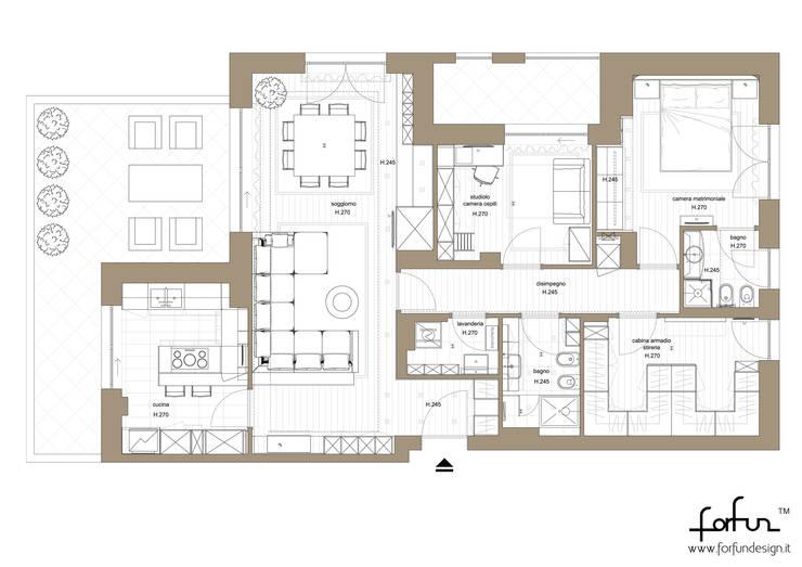 Milano – Cimarosa: Case in stile  di Architetto ANTONIO ZARDONI