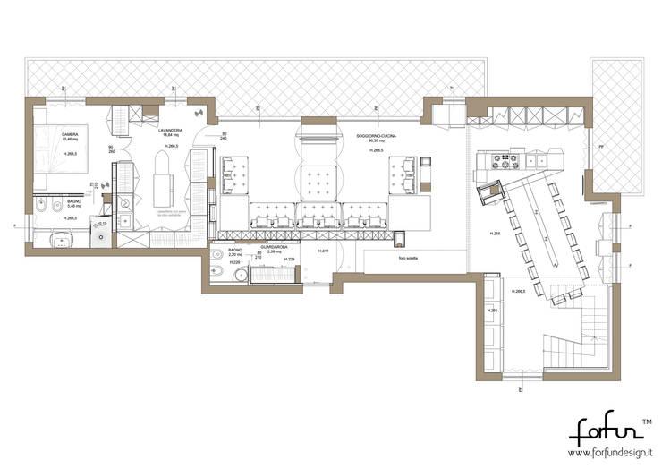 Attico su due livelli a Desio: Case in stile in stile Moderno di Architetto ANTONIO ZARDONI