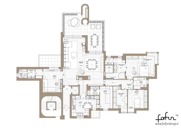 Milano 2 – Residenza Orione: Case in stile  di Architetto ANTONIO ZARDONI