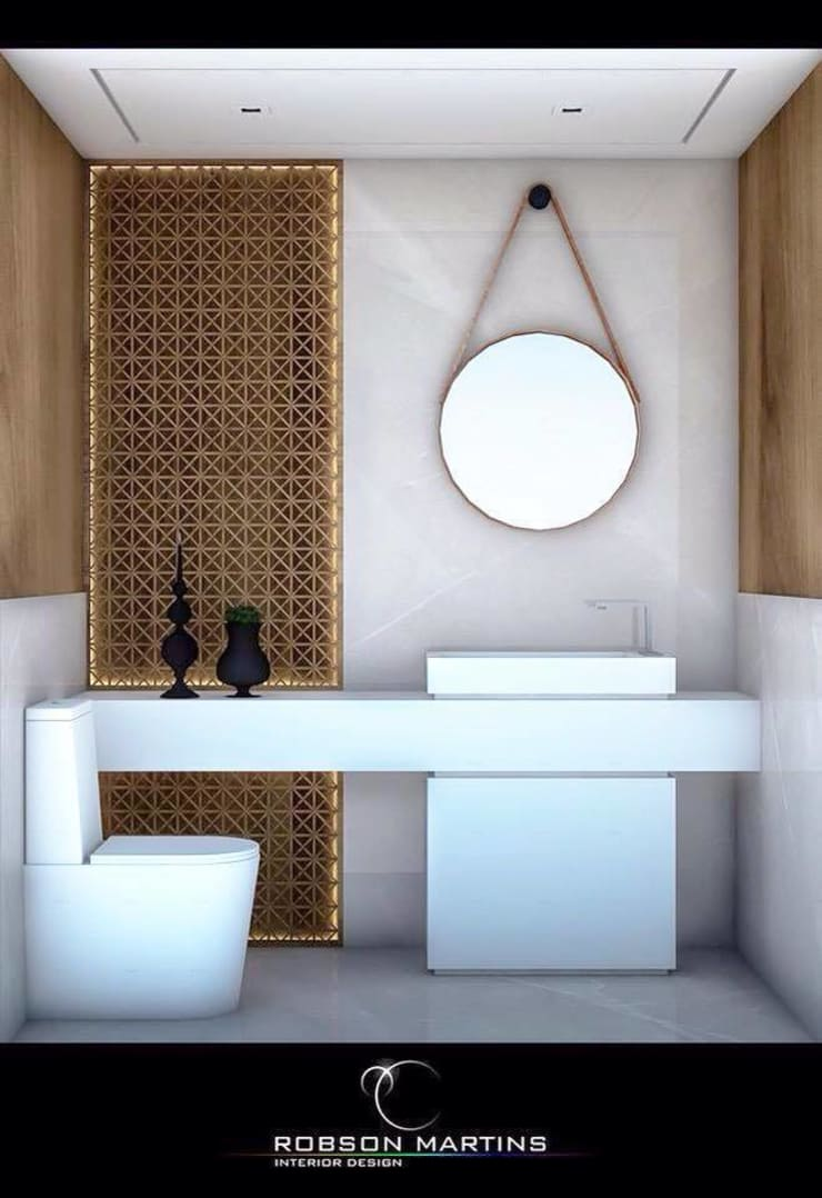 Washroom:  Bathroom by Robson Martins Interior Design