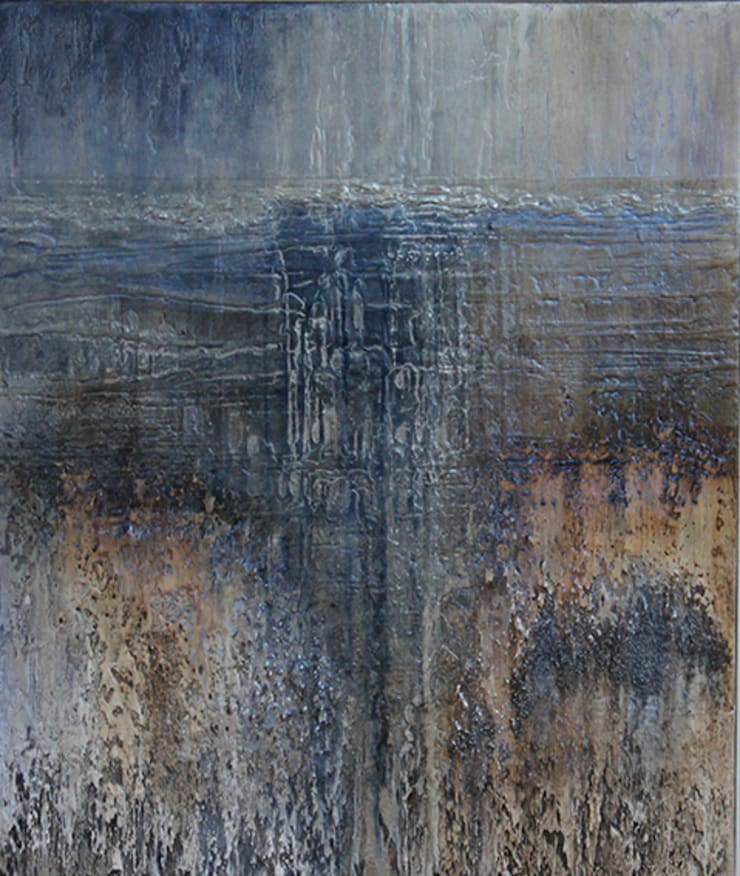 'Walking onto a Winter's Sky' by Kevin Turton at Riverside Art and Glass.:  Artwork by Riverside Art and Glass, Contemporary Gallery