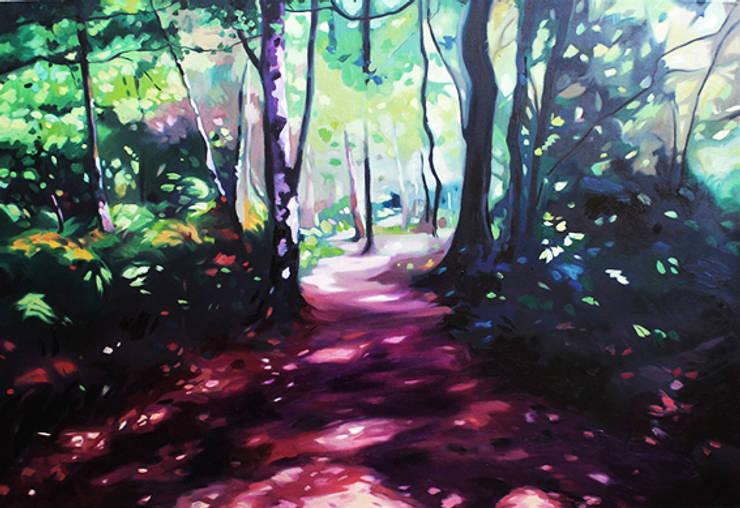 'Woodland Walk' by Helen Shepherd at Riverside Art and Glass.:  Artwork by Riverside Art and Glass, Contemporary Gallery