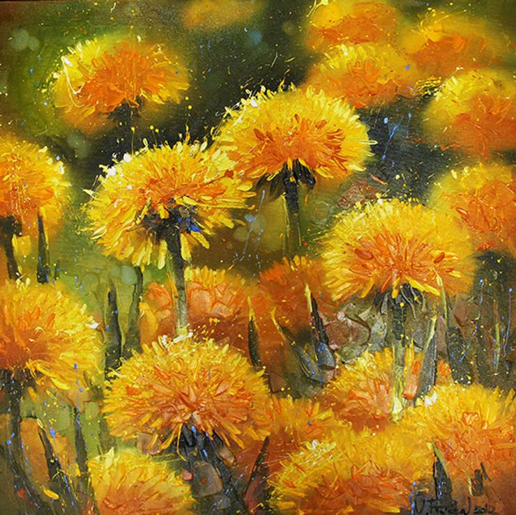 'Dandelions' by Vladimir Piven at Riverside Art and Glass.:  Artwork by Riverside Art and Glass, Contemporary Gallery