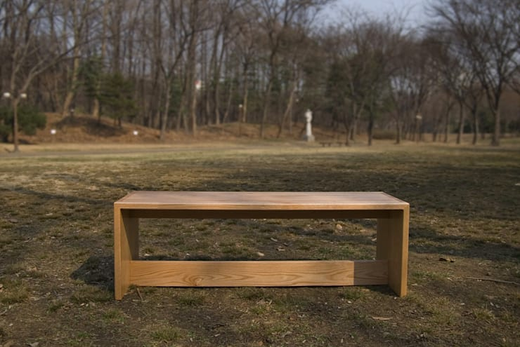 HELTH BENCH: Woodstudio MAUM의  피트니스 룸
