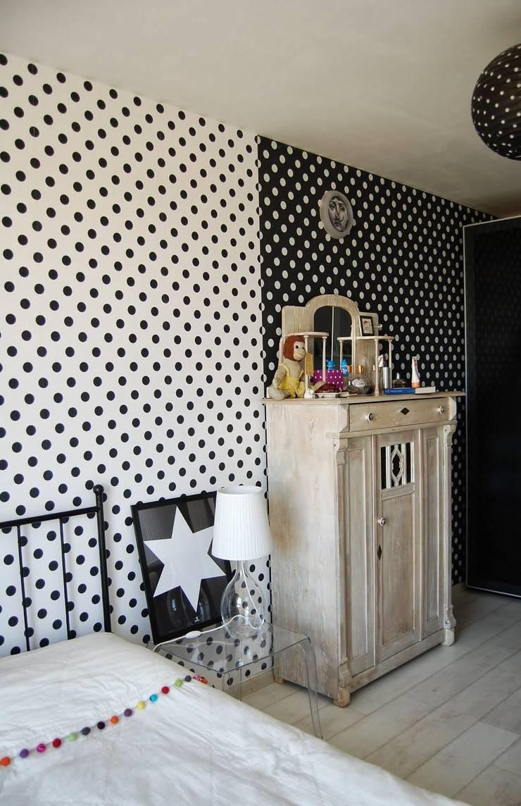 wnętrza: styl , w kategorii Sypialnia zaprojektowany przez PIANZU