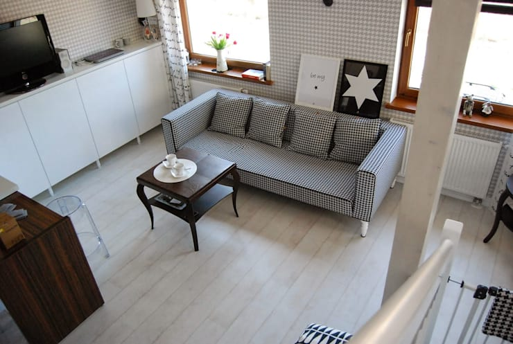 wnętrza: styl , w kategorii Salon zaprojektowany przez PIANZU