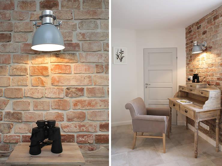 wnetrza: styl , w kategorii Domowe biuro i gabinet zaprojektowany przez Mocca Studio ,Skandynawski