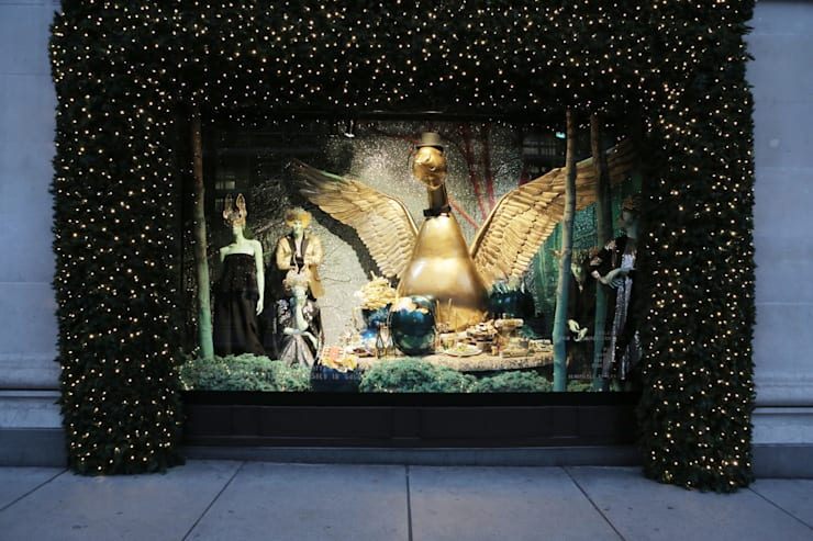 Christmas Window:  Offices & stores by Selfridges