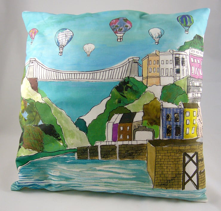 Clifton Balloons Cushion:  Living room by Emmeline Simpson
