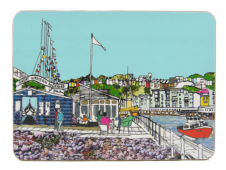 Dockyard Cafe Bristol Placemat:  Dining room by Emmeline Simpson