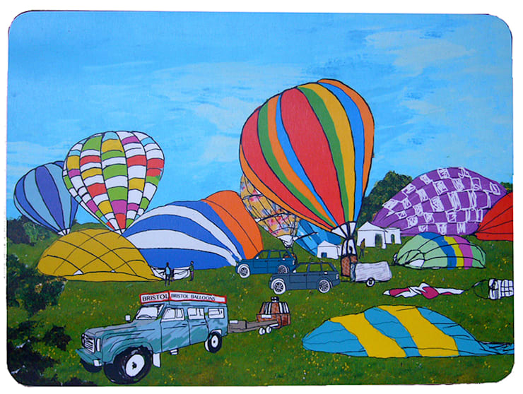 Early Balloon Ascent Placemat:  Dining room by Emmeline Simpson