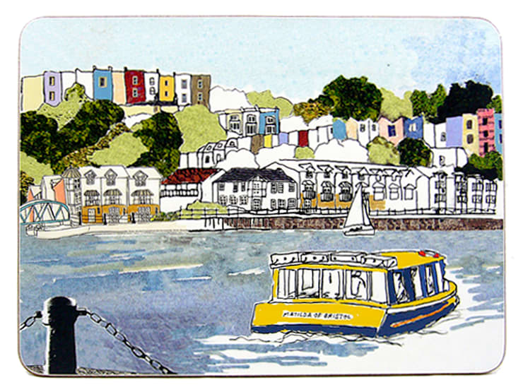 Harbourside View Placemat:  Dining room by Emmeline Simpson