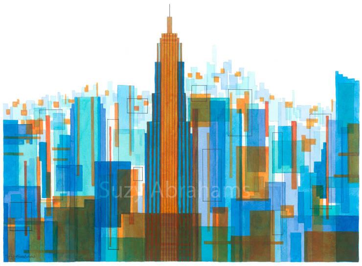 Manhattan Impressions No.4:  Artwork by Suzy Abrahams