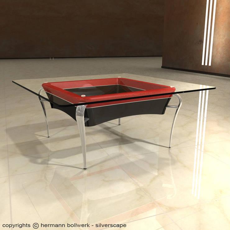 Salas de estilo  por Hermann Bollwerk - Silverscape Design Pure